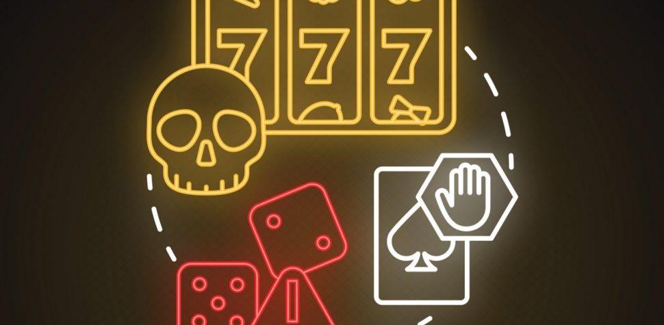 Casino scam neon lights graphic