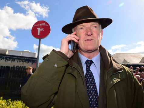 Trainer Willie Mullins on the phone